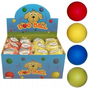 Hard Rubber Bouncy Dog Ball - Blue Green Yellow or Red (One Supplied)